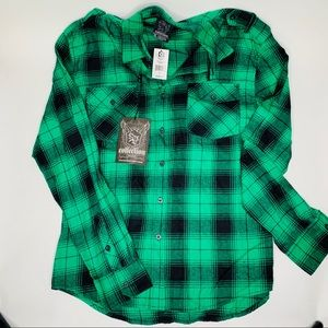 South Pole flannel button up shirt